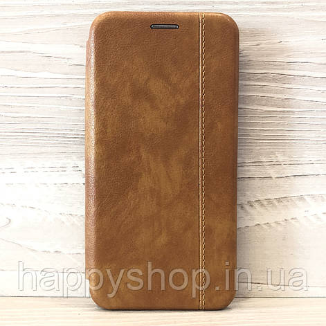 Чехол-книжка Gelius Leather для Samsung Galaxy M20 (M205) Коричневый, фото 2