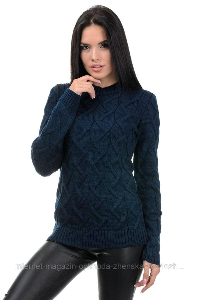 Женский полушерстяной вязаный свитер, размер универсальный 42-48, цвета в ассортименте