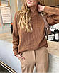 Свободный вязаный женский свитер, размер универсальный 42-48, расцветки разные, фото 8