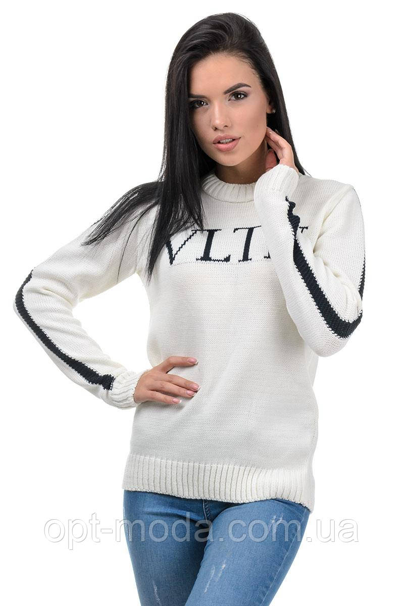 Женский стильный теплый полушерстяной свитер, размер универсальный 42-48, расцветки разные