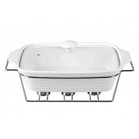 Мармит Kamille Food Warmer керамический 3л d 38 см с подогревом KM-6404 прямоугольный