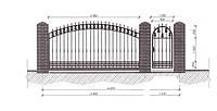 Откатные ворота — зашивка профильная труба