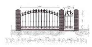 Відкатні ворота — зашивання профільна труба