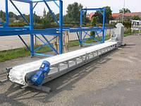 Конвейер ленточный с гофробортовой лентой (гофробортом) транспортер ленточный, фото 1