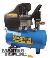 MasterTool  Компрессор 24 л, 1,8 кВт, 206 л/мин. 8 атм, 2 выхода, Арт.: КПП-24-1