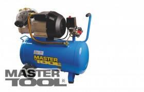 MasterTool  Компрессор 50 л, 3,0 кВт, 420 л/мин. 8 атм, 2 выхода, Арт.: КПП-50-2