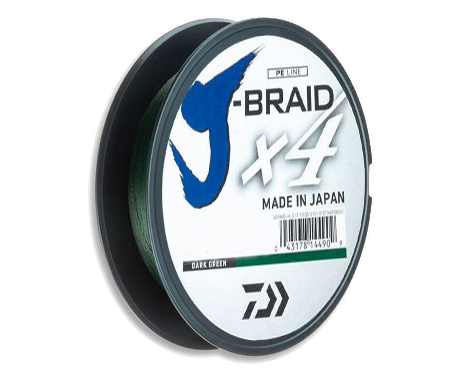 Шнур Daiwa J-Braid x4 0,17мм 8,4кг Dark Green 135м