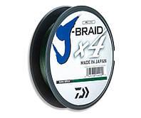 Шнур Daiwa J-Braid x4 0,17мм 8,4кг Dark Green 135м, фото 1