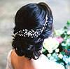 Гребень-декор для волос с жемчугом и бисером 22см
