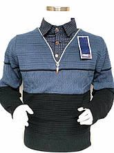 Свитер обманка подростковая рубашка на мальчика FIVE 5