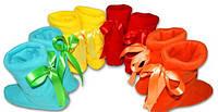 Тапочки сапожки с Бантиками, флисовые тапочки для деток, для всей семьи. Опт, розница. Украина.
