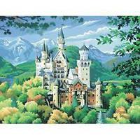 Картина раскраска по номерам Замок  Нойшванштайн Sequin Art SA0128