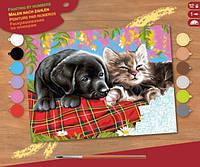 Набор для творчества картина-раскраска по номерам Новые друзья Sequin Art SA1107