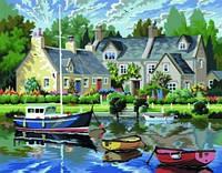 Раскраска по номерам цифрам Набор для творчества Спокойная гавань Sequin Art SA0130