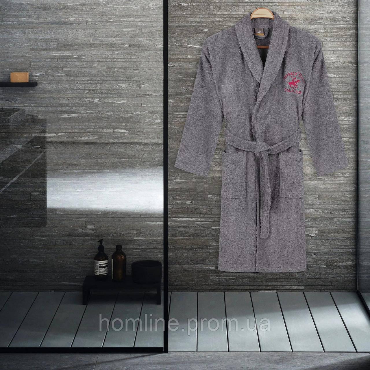 Халат Beverly Hills Polo Club XS/S grey серый 355BHP1706