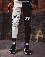 Теплые спортивные штаны Sad Smile черно белые