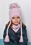 Вязаный шарф хомут женский, фото 7