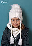 Вязаный шарф хомут женский, фото 8