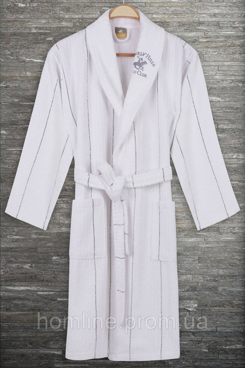 Халат Beverly Hills Polo Club M/L grey серый 355BHP1715