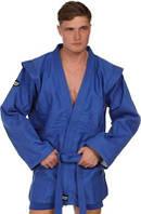 Куртка самбо JUNIOR (синяя) р. 150 см Green Hill