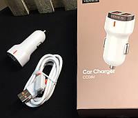 Автомобильное зарядное устройство VIDVIE СС06 Micro cable,2 порта