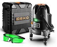 Лазерный уровень Deko DKLL501 зелёные лучи 5 линий, 6 точек