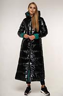 Пуховик женский зимний - теплый модный длинный женский пуховик 46размер