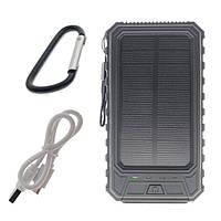 Портативный аккумулятор с солнечной батареей 10000 mAh Solar Battery SB1 Black R149745