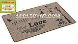 """Придверні килимок з льону на гумовій основі """"HOME is were full of LOVE"""" (Будинок сповнений любові) 75х45х0,5 див., фото 3"""