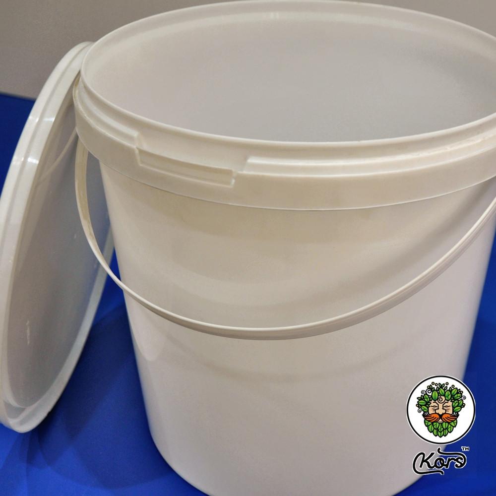 Ведро пластиковое белое 10 литров