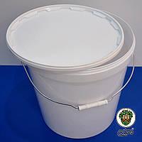 Ведро пластиковое белое 20,5 литров