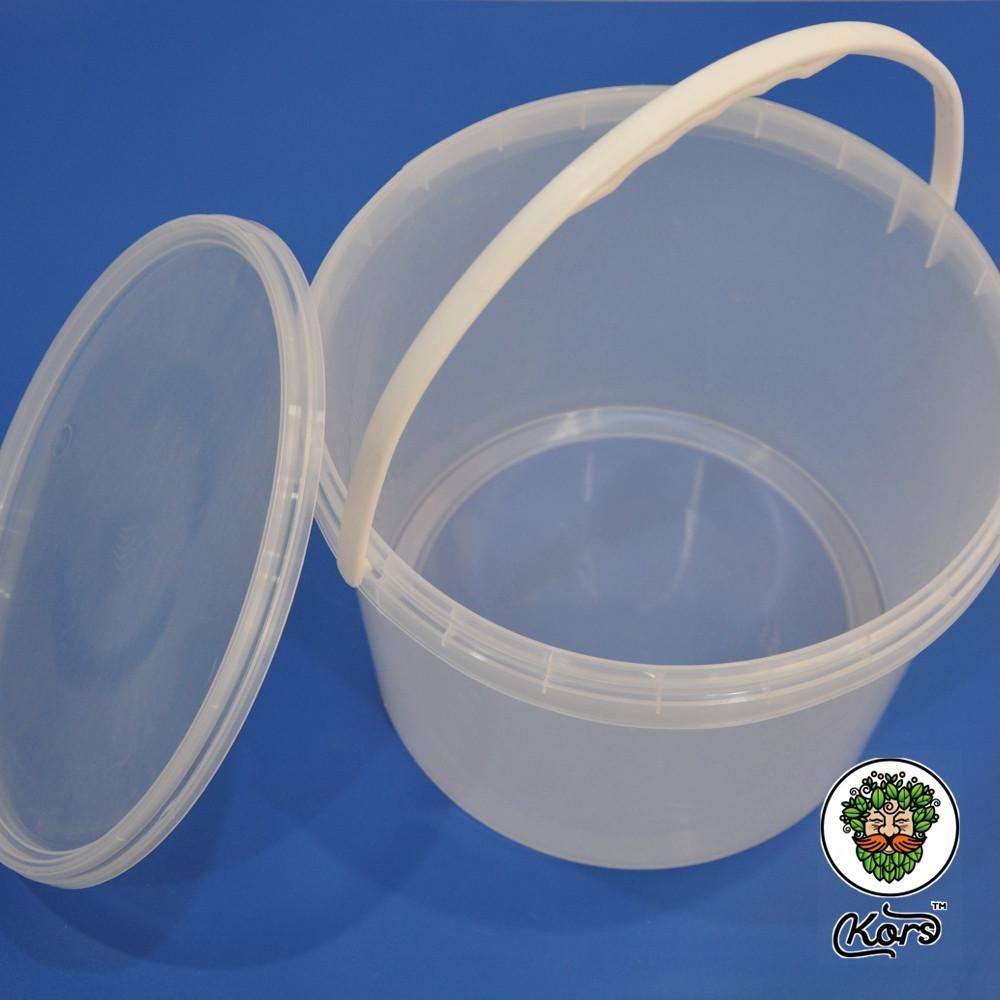 Ведро пластиковое прозрачное 10 литров
