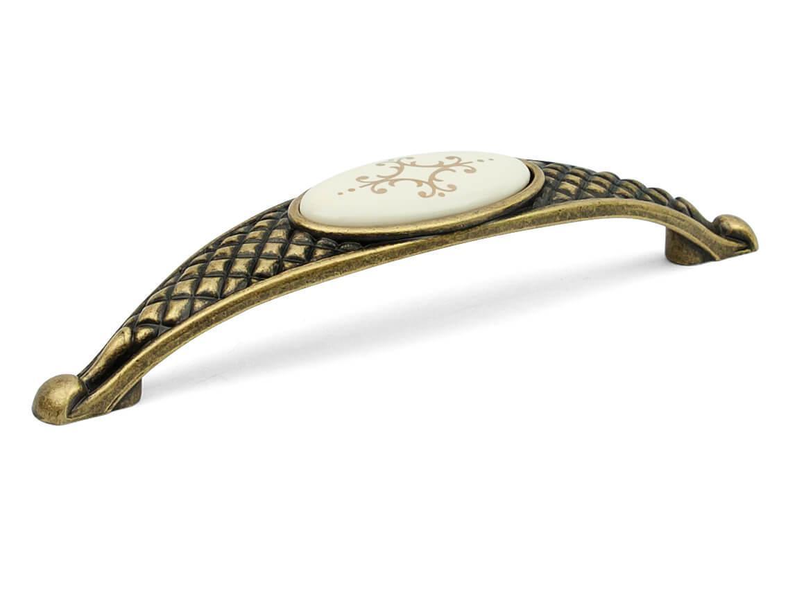 Ручка меблева скоба Virno Azure 100/128  бронза