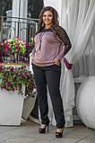 Стильный брючный костюм женский Размер 48 50 52 54 56 58 В наличии 5 цветов, фото 4