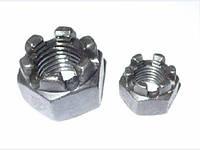 Гайки DIN 935 М16 шестигранные корончатые. Прорезные