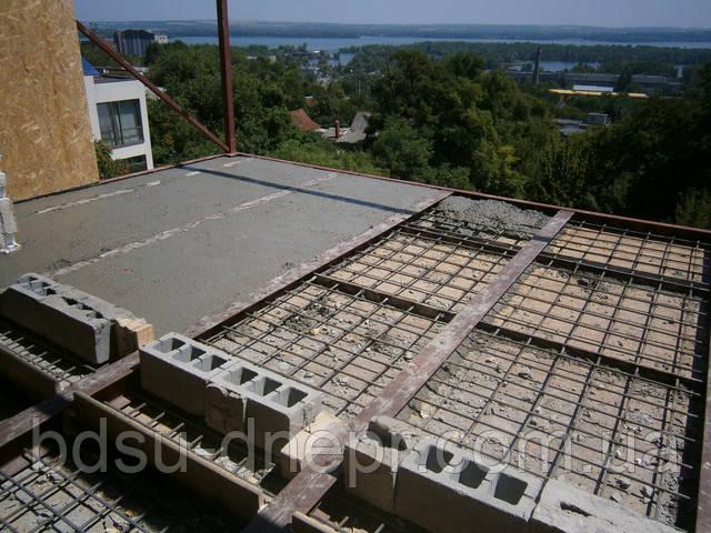 Заливка бетоном балкона