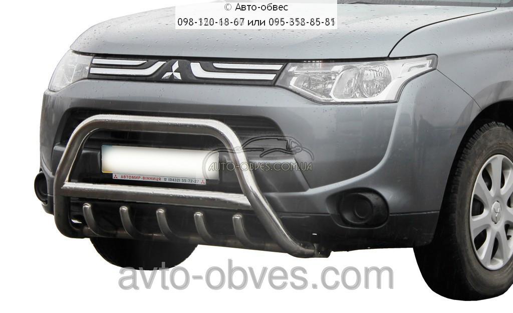 Установка защитного обвеса для Mitsubishi Outlander 2014-