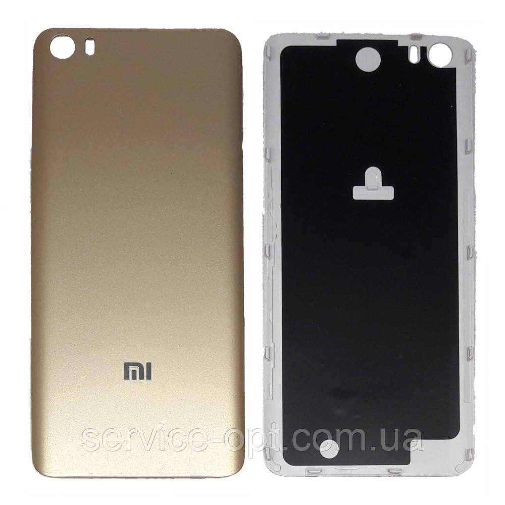 Задняя крышка Xiaomi Mi5 золотая