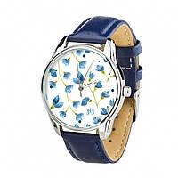 Часы Ziz Сама нежность, ремешок ночная синь, серебро и дополнительный ремешок - R142845