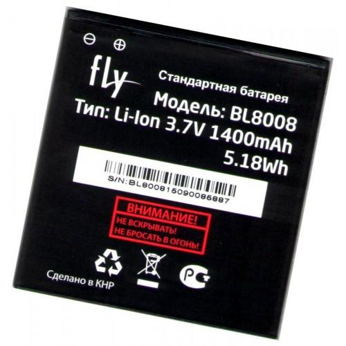 Аккумулятор 100% оригинал Fly BL8008 FS401 Stratus 1 1400mAh