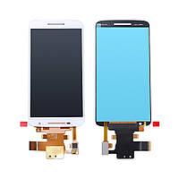 Дисплей Motorola XT1561 Moto X Play, XT1562,, XT1563, XT1564 + сенсор белый