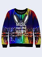 Свитшот Музыка и счастье