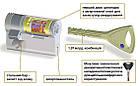 Цилиндр Abloy Protec 2 HARD 83 (32х51) Cr закаленный ключ-ключ, фото 3