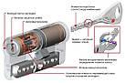 Цилиндр Abloy Protec 2 HARD 83 (37х46) Cr закаленный ключ-ключ, фото 3