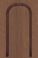 Арка Новый Стиль Романская золотая ольха ПВХ Deluxe ( шир. от 660мм до 1260мм, толщ. 200мм, высота до 2400мм)