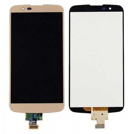 Дисплей LG K410TV K10TV, K430TV + сенсор золотой с микросхемой оригинал