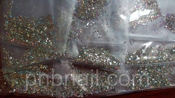 Стразы ,стекло ( аналог Swarovski) SS4 - 1.5мм, хамелеон,1440 шт.