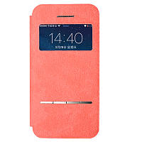 Чехол книжка Baseus Terse Buckskin Leather Case for iPhone 5 5S Smart View Pink, фото 1