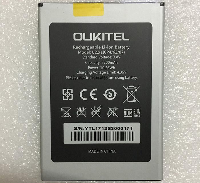 Аккумулятор  Oukitel U22