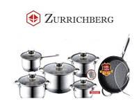 Кухонная Посуда Zurrichberg ZB 8020 Набор 12 Предметов Качественная Швейцарская Посуда